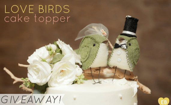 love bird cake topper giveaway 1