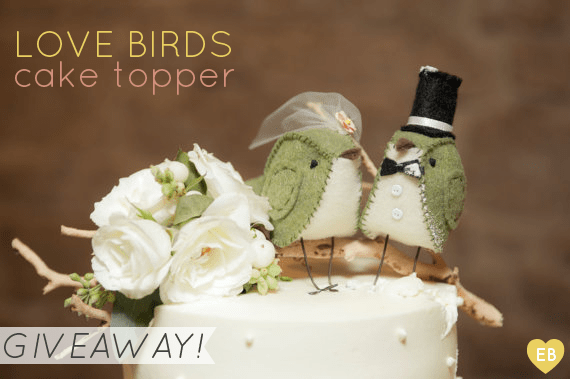 bird cake topper giveaway