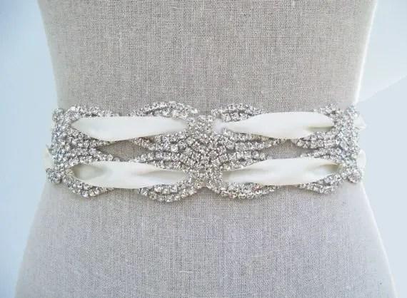 handmade wedding dress sash