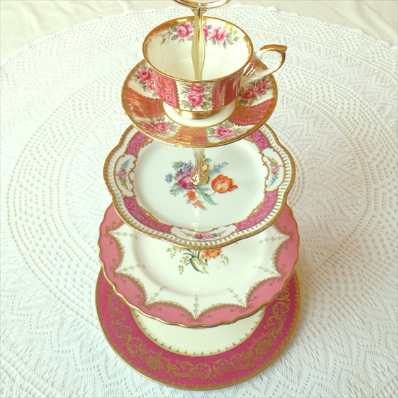vintage wedding cake stands