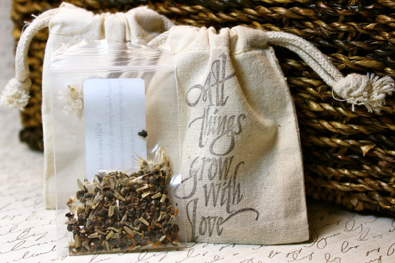 handmade wedding seed favors