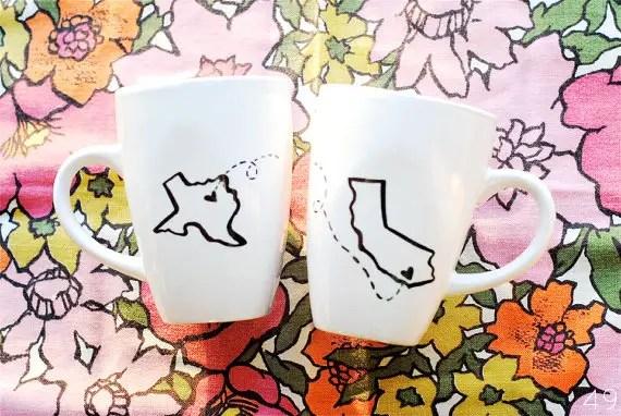 state mugs - bridesmaid gifts