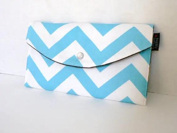 chevron clutch purse