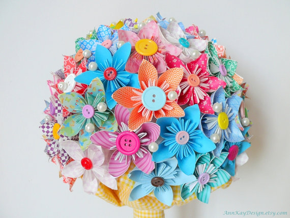 paper flower bouquet origami