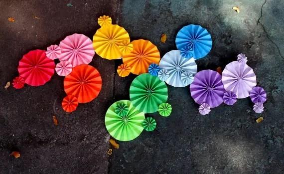 pinwheels for aisle decor