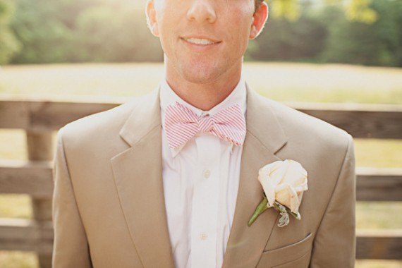 striped wedding bow tie