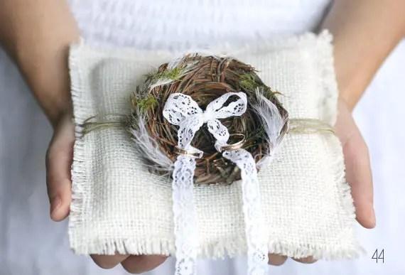 bird wedding pillow
