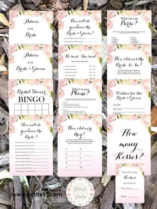 bridal shower games - pack 3