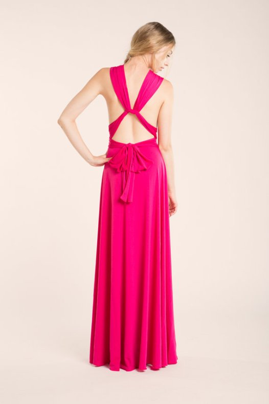 Best convertible bridesmaid dresses under 100 for Fuschia pink dress for wedding