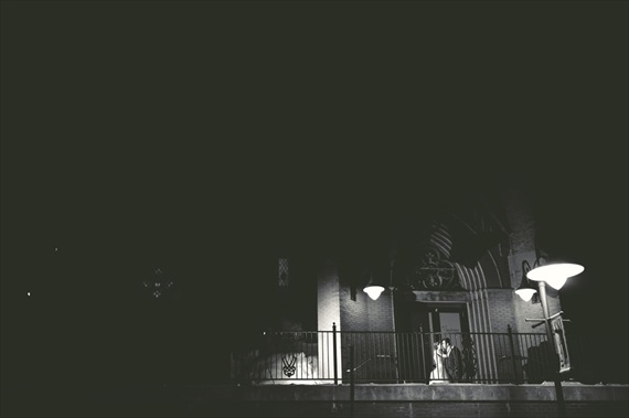 LaCoursiere Photography - bride and groom under the lights