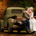 bride and groom kissing - Pritchard Photography
