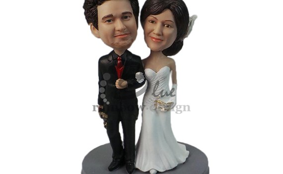 Custom Wedding Bobbleheads Top Image