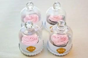 DIY Wedding Favors Bell Jar Cupcakes