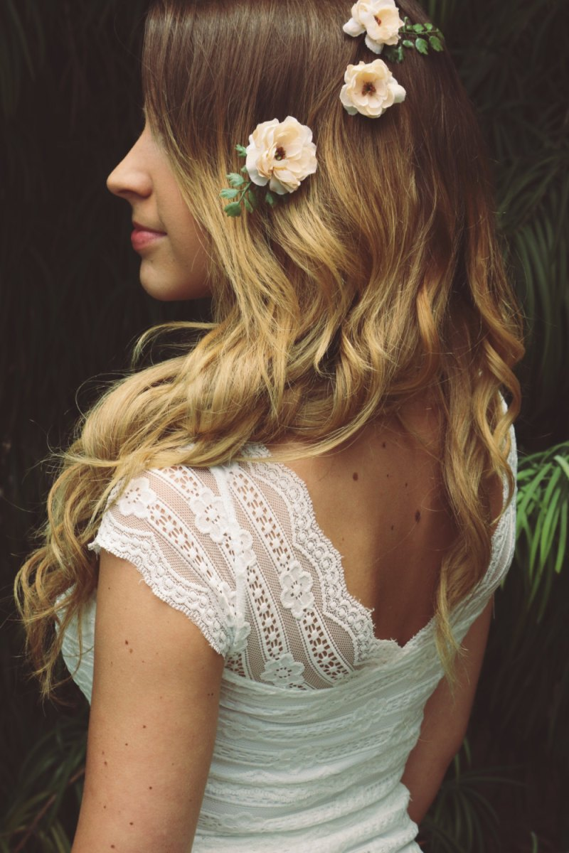 How to Wear a Hair Crown - Hair Floral Bobbies Instead of a Crown