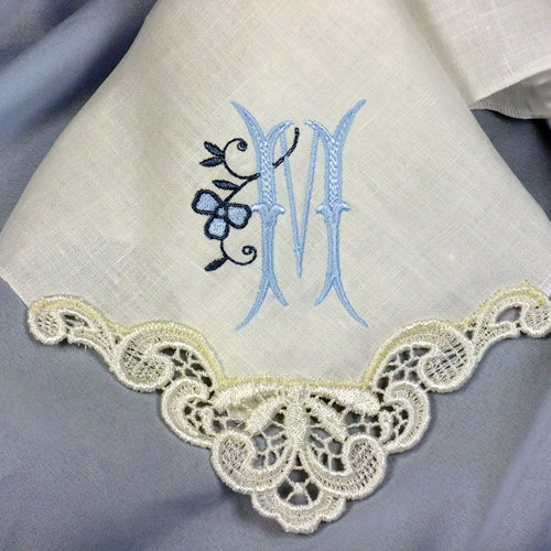 Monogrammed Wedding Handkerchiefs