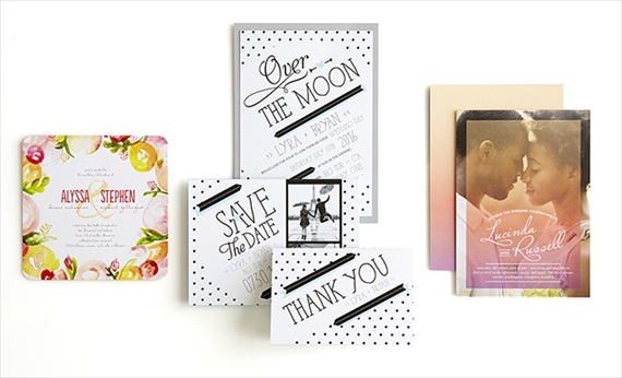 Spring Trends Wedding Invitation - Wedding Stationery Trends 2014 via EmmalineBride.com