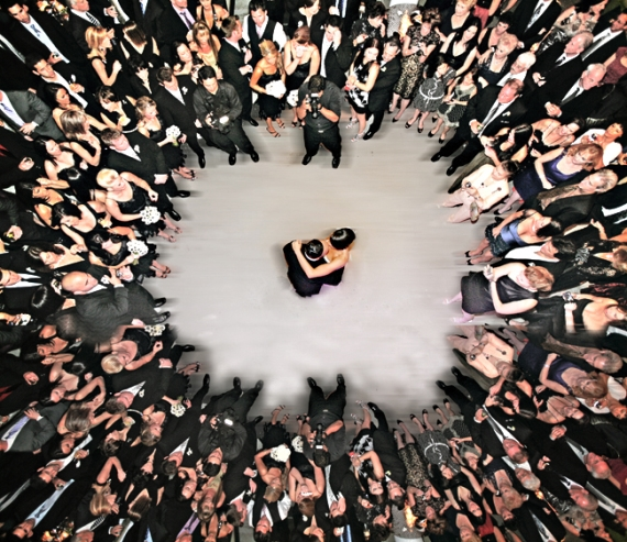 First Dance Mistakes to Avoid - cool aerial shot by tony gajate