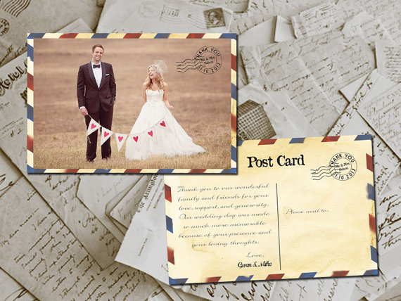 airmail thank you cards - paper goods wedding