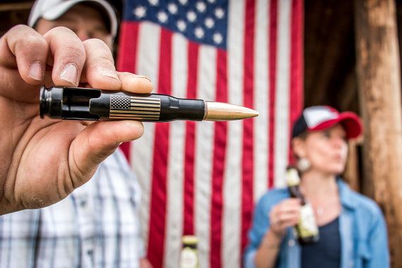 American Flag Bottle Opener for Groomsmen