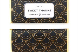 art deco scalloped candy wrapper