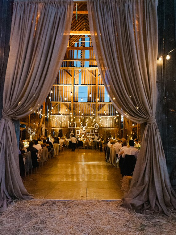 barn wedding ideas draping