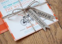 bicycle themed wedding ideas - save the date