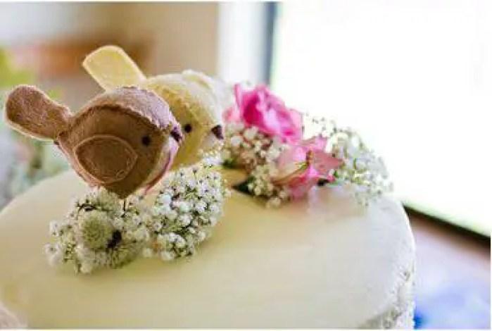 birds on cake topper