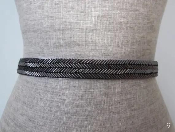 black-chevron-dress-sash