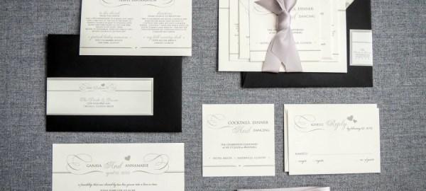 black and white wedding invitations