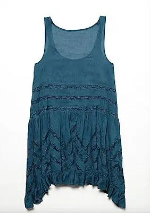 blue bridesmaids boho dress