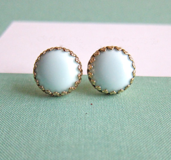 8 Ideas for Something Old, New, Borrowed, Blue (via EmmalineBride.com) - Earrings by Jewelsalem