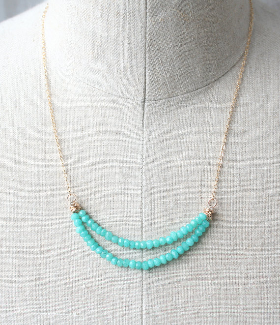pastel beaded necklace spring jewelry by laura stark via Colorful Wedding Accessories