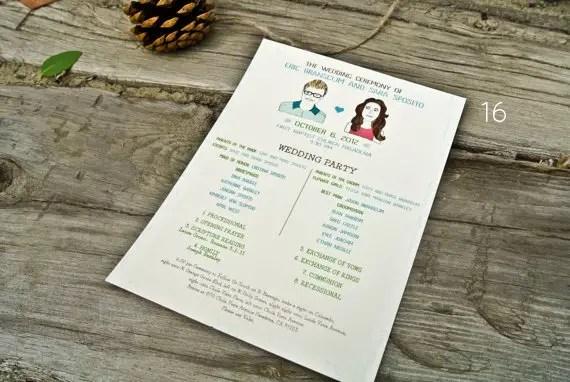21 Stylish Bohemian Wedding Ideas - bohemian wedding program: wide eyes design