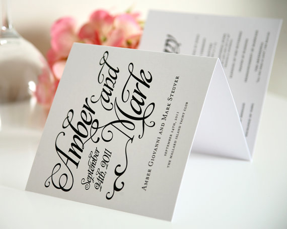 booklet ceremony program - paper goods wedding
