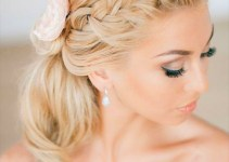 braided ponytail wedding hairstyle