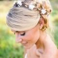 bridal wreath hair crown