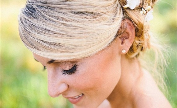 bridal wreath hair crown
