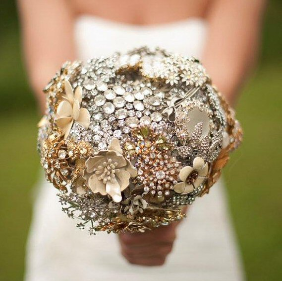 Faux Flower Bouquets (bouquet: the ritzy rose)