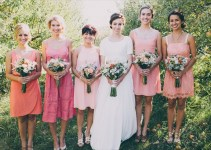 bridesmaids mismatched dresses - ombre