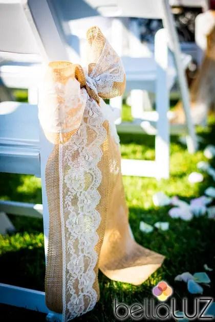 burlap and lace aisle decor | 50 Best Burlap Wedding Ideas | via http://emmalinebride.com/decor/burlap-wedding-ideas/