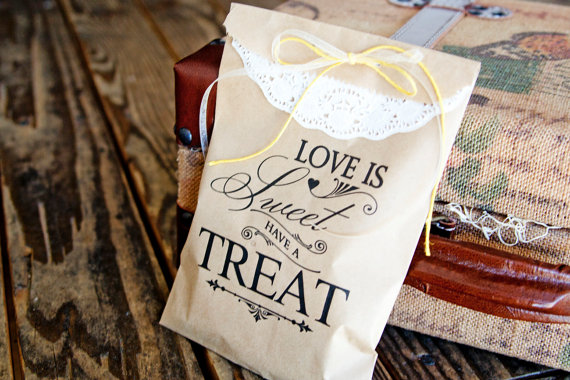 50 Best Bridal Shower Favors: candy favor bags (by mavora art and design)