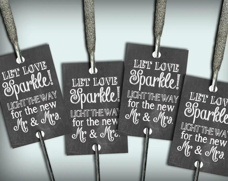 chalkboard let love sparkle sparkler tags
