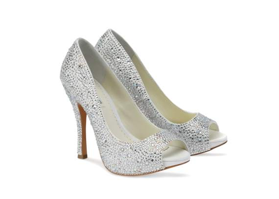 charley peep toe platform heel for bridal footwear