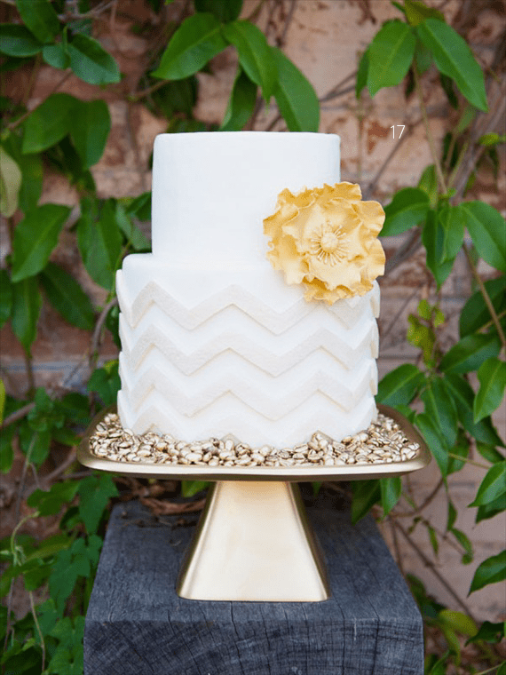 chevron-wedding-cake