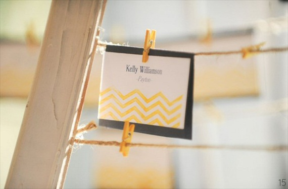 16 Chic Chevron Wedding Details - chevron wedding escort card