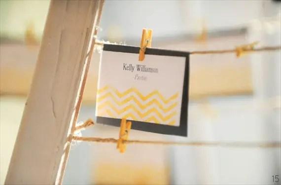 16 Chic Chevron Wedding Details - chevron wedding escort card