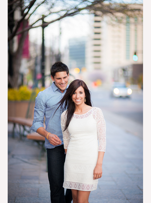 Winsor Photography - couple walking in downtown salt lake city