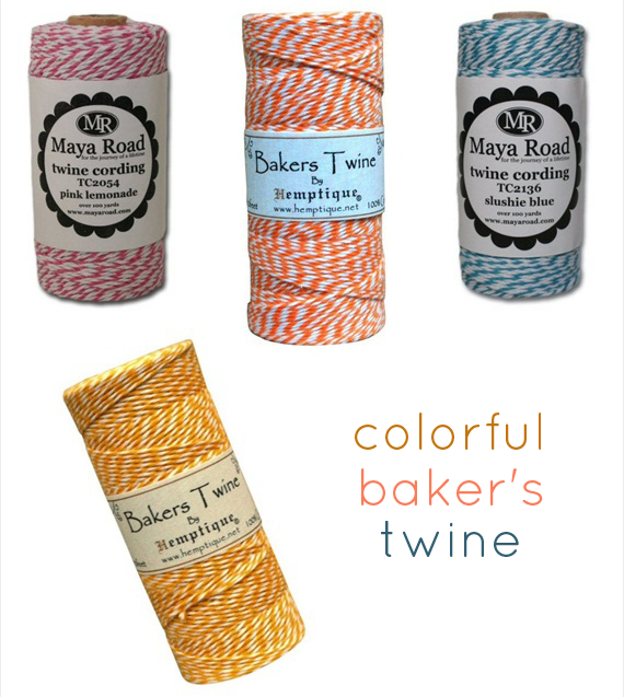 colorful bakers twine