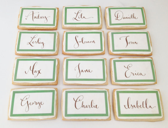 cookie place card favors