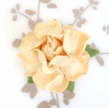 cream paper flowers